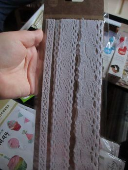 White Self Adhesive Lace Strips - Craft Corner