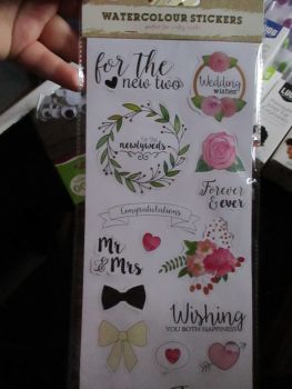 Wedding Wishes - Watercolour Stickers - Craft Corner