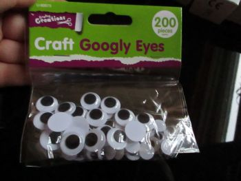 Craft Googly Eyes 200pc - Crafty Creations