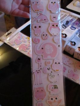 Pink Animal Designs - 3D Baby Embellishments - Craft Corner