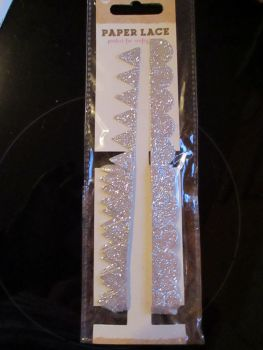 Silver Glitter Self Adhesive Trim - Craft Corner