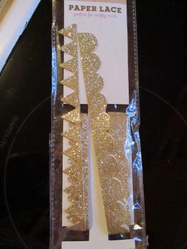 Gold Glitter Self Adhesive Trim - Craft Corner