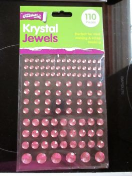 Pink Krystal Jewels 110pc Self Adhesive Gems - Crafty Creations