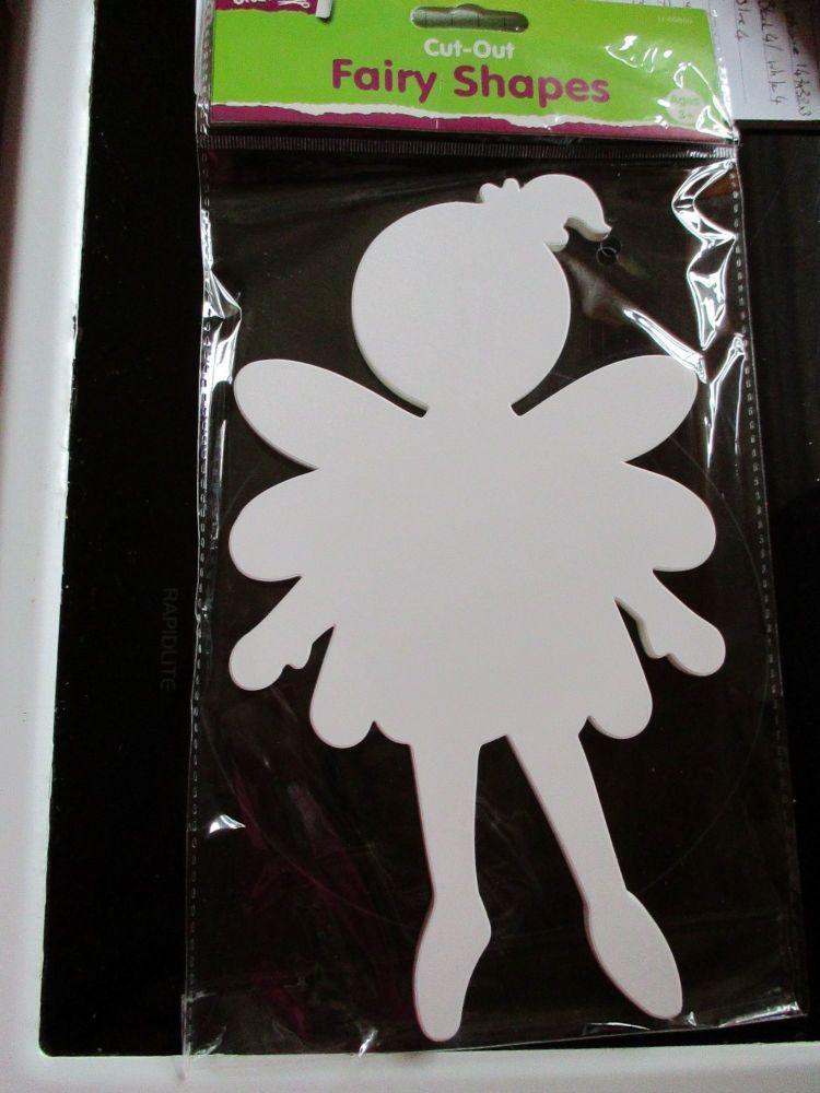 Plain White Fairy Shape Cutouts 15pk - Crafty Creations