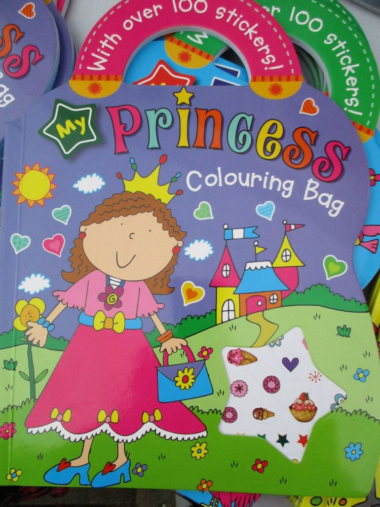My Princess Colouring Bag - With Over 100 Stickers