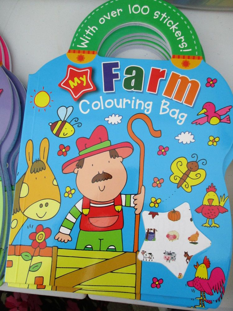 My Farm Colouring Bag - With Over 100 Stickers