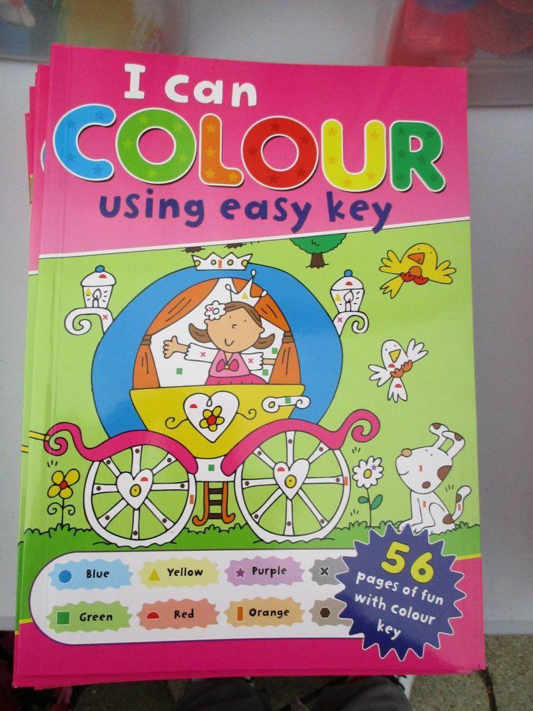 Princess Design - I Can Colour Easy Key 56pg Book