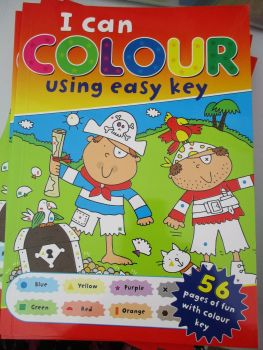 Pirates Design - I Can Colour Easy Key 56pg Book