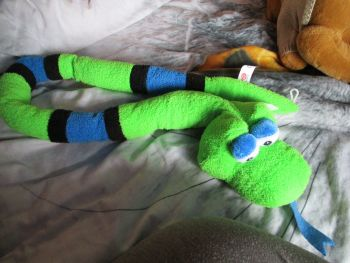 Green Black Blue Snake - Character Co - Soft Toy