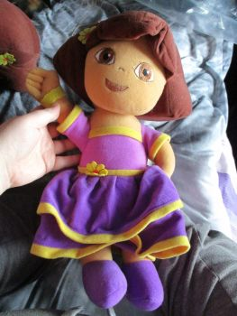 Purple Fiesta Dress Dora - Nickelodeon Dora The Explorer - Soft Toy