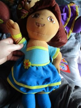 Blue Fiesta Dress Dora - Nickelodeon Dora The Explorer - Soft Toy