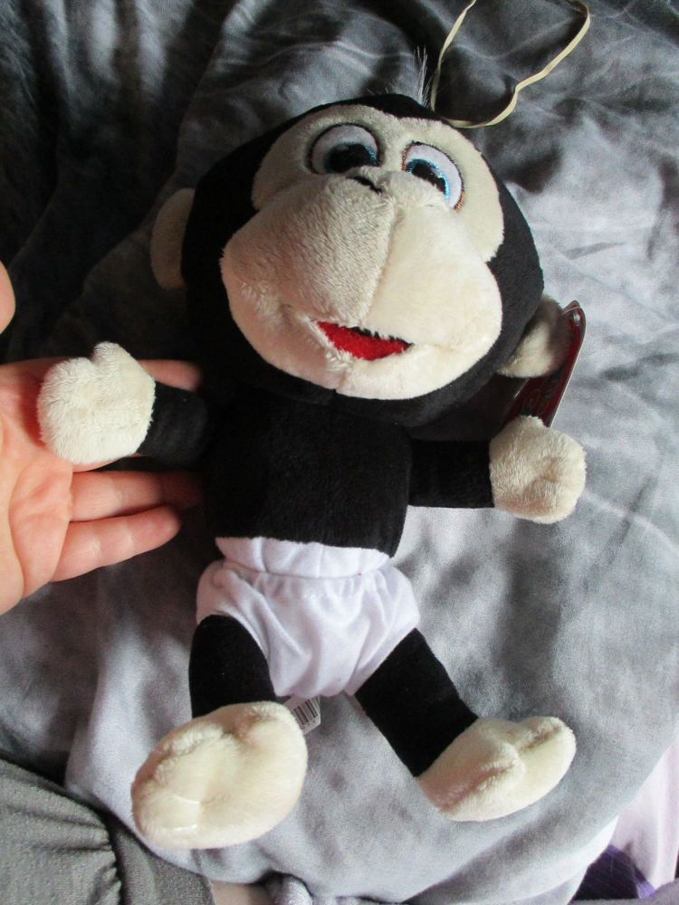 Black Chimp Monkey with White Nappy - Character Co - Soft Toy