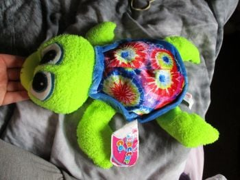 Blue Patterned Turtle - Character Co - Soft Toy
