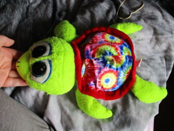 Red Patterned Turtle - Character Co - Soft Toy