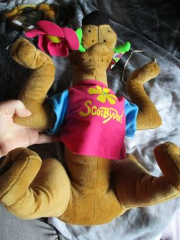 Pink T-Shirt Flower Power Scooby Doo - Hannah Barbara - Soft Toy