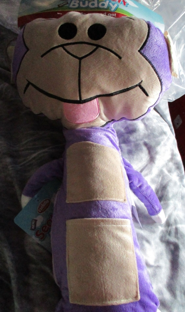 Purple Monkey Giant Seat Belt Protector - Cuddle Kingdom - Soft Toy