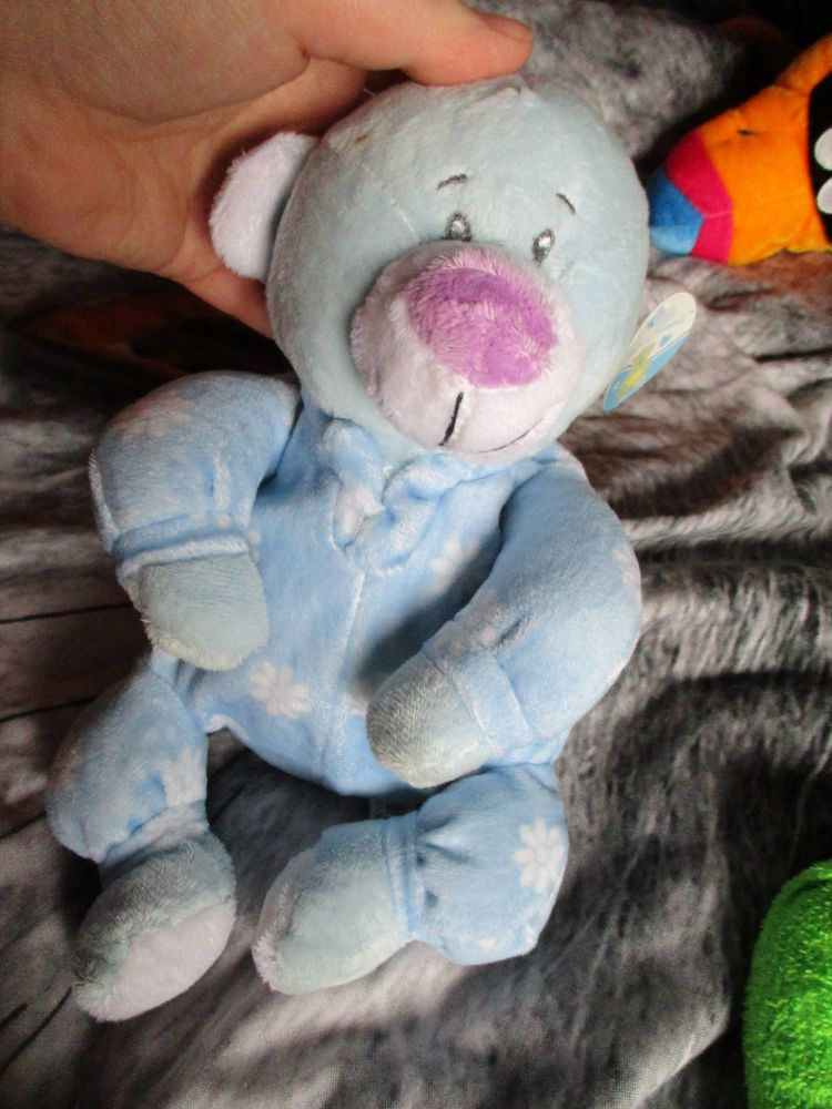 Blue Pyjama Bear - Tender Moments - Soft Toy