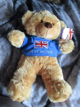 Great Britain T-Shirt Bear - PMS - Soft Toy
