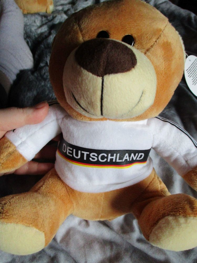 Deutschland W/Sewn Shirt - Football Crazy - Soft Toy