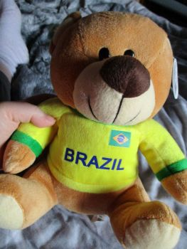 Brazil W/Sewn Shirt - Football Crazy - Soft Toy
