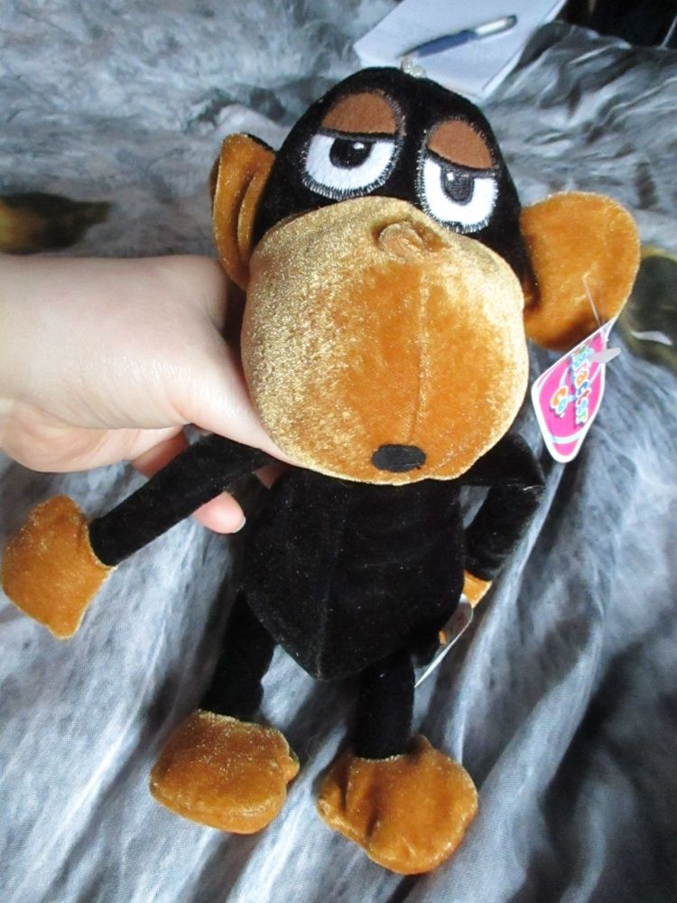 Black / Brown Dangly Monkey - Character Co - Soft Toy