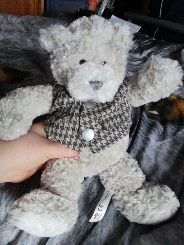 Grey Waistcoat Bear - Cloudy Lane - Soft Sensations - Soft Toy