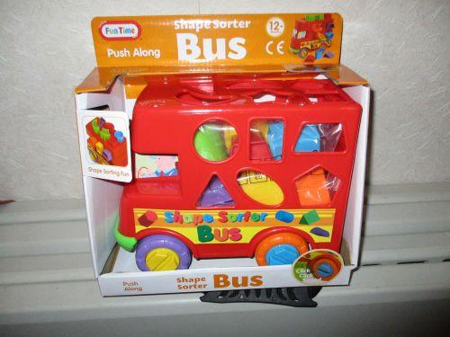 Push Along Shape Sorter Bus - 12+ Months - Fun Time