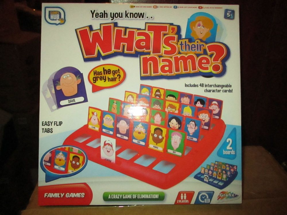 What's Their Name - Board Game - Grafix