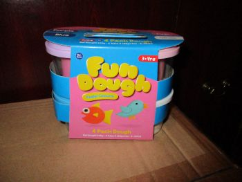 Pink / White / Blue / Purple 85g Fun Play Dough Pastel Pack