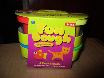 Red / Green / Blue / Yellow 85g Fun Play Dough Brights Pack