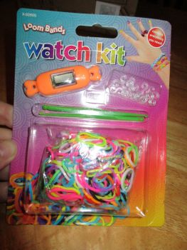 Orange Loom Band Watch Kit - Contains Everything You Need