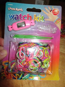 Pink Loom Band Watch Kit - Contains Everything You Need
