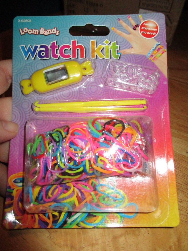 Yellow Loom Band Watch Kit - Contains Everything You Need