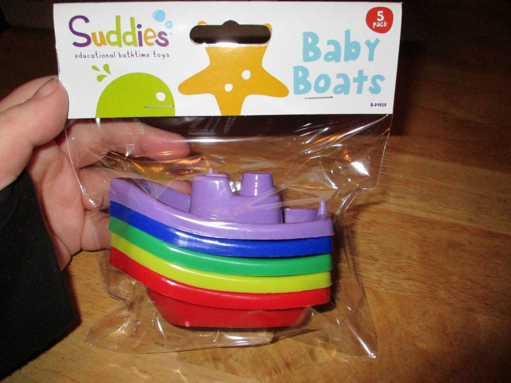 5pk Plastic Bath Boats - Suddies Education Bathtime Toys