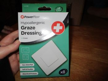 Power Plast Hypoallergenic Graze Dressing 2 Sizes