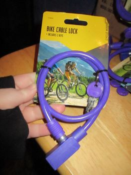 Purple Bike Cable Lock W/ 2 Keys - Cycle Worxs