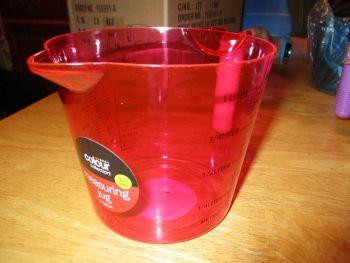 Pink Colour Collection 1L Plastic Measuring Jug
