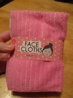 Pink & White 3pc Microfibre Polyester Face Cloth Flannel Set - Look At Me
