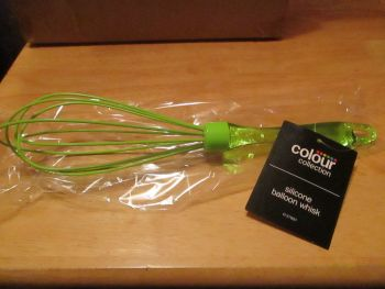 Green Colour Collection Silicone & Plastic Balloon Whisk