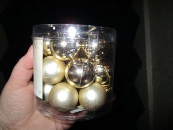 18pk Gold Two Tone Mini Baubles