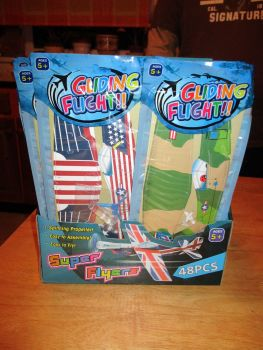 Wholesale Job Lot 48pc - Gliding Flight - Foam Super Glider