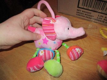 Elephant Baby Rattle - Cute And Cuddly - Bear