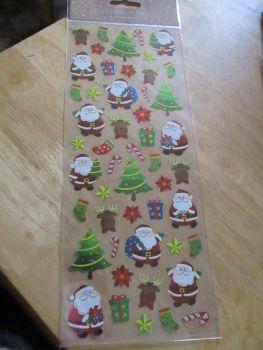 Santa Trees Glitter Stars Design - Believe - Sticker Sheet