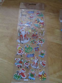 Santa Reindeer Presents Glitter Design - Believe - Sticker Sheet