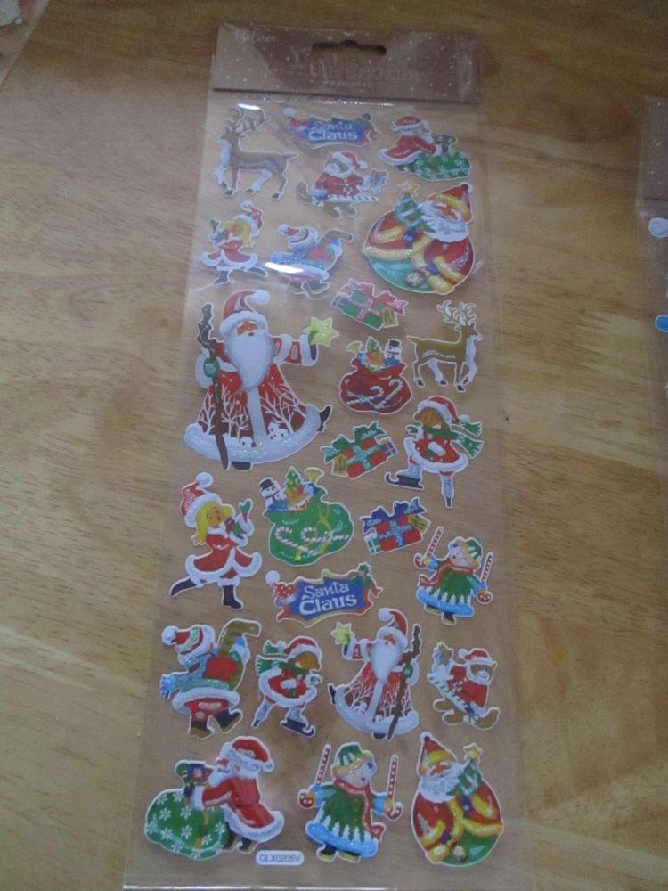 Santa Reindeer Presents Glitter Design - Believe - Sticker Sheet