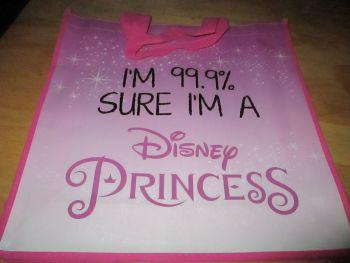 I'm 99.9% Sure I'm A Disney Princess Licensed Shopping Bag - Bag For Life