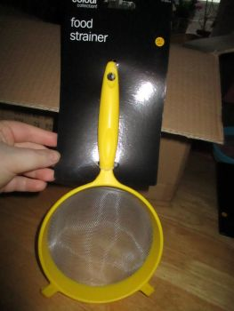 Yellow Colour Collection 18cm Food Strainer Sieve