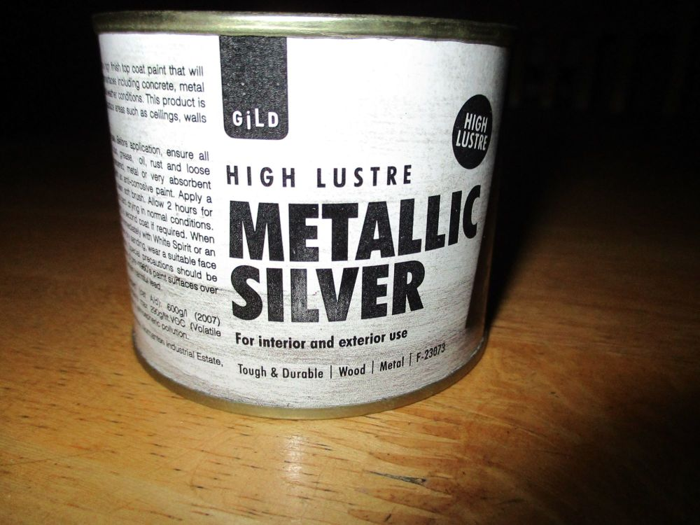 Silver High Lustre Paint 180ml