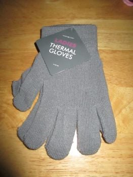 Grey Ladies Thermal Gloves