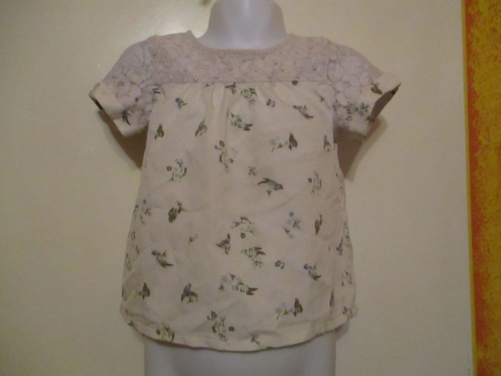 Beaded Lace & Floral Top - Size 3yrs - I Heart Girls Wear